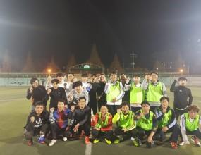 고객과의 소통과 단합을 위한 친선축구진행